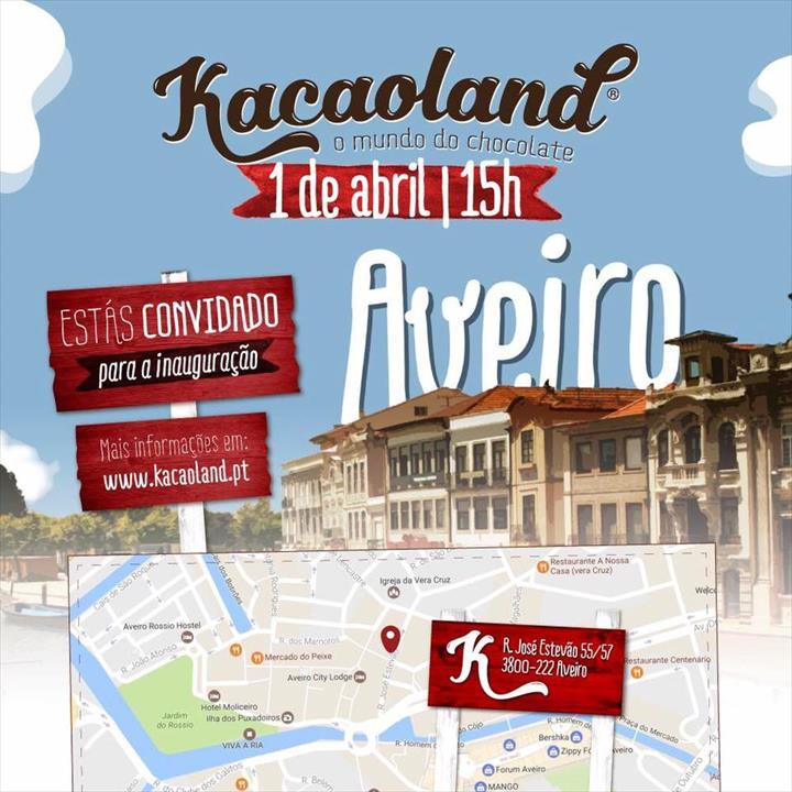KACAOLAND abre a terceira unidade no centro de Aveiro