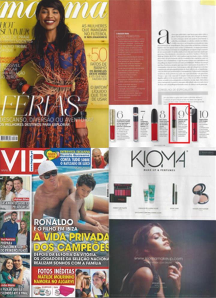 Kioma em destaque nas revistas portuguesas