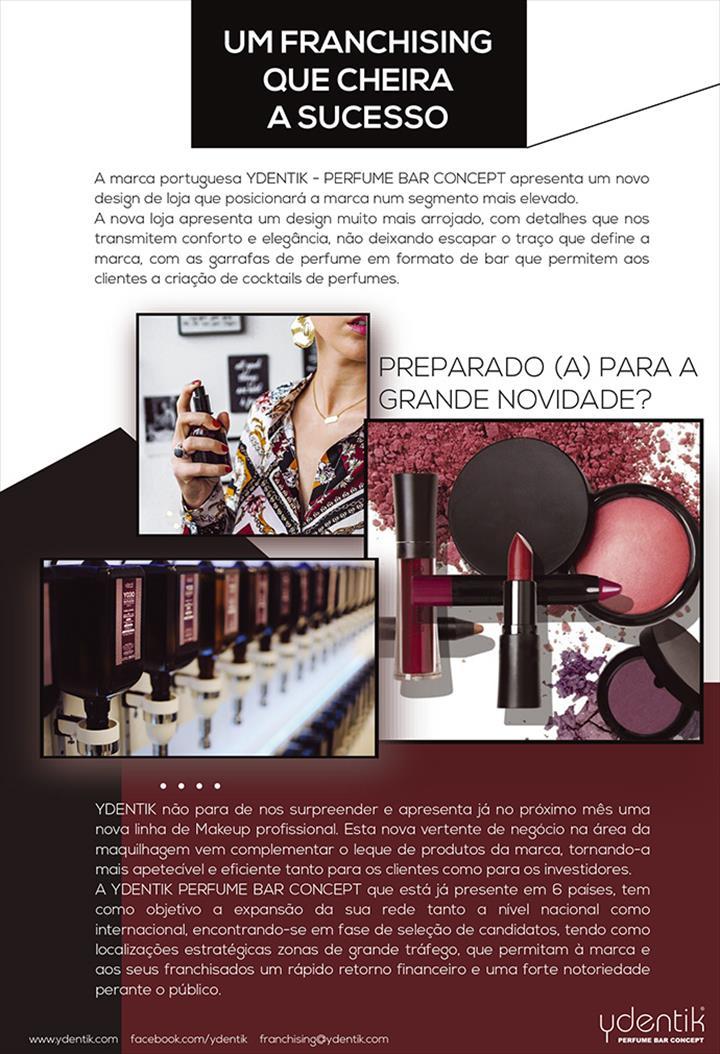 Ydentik - Perfume bar concept é uma experience store com um conceito inovador, em formato de bar