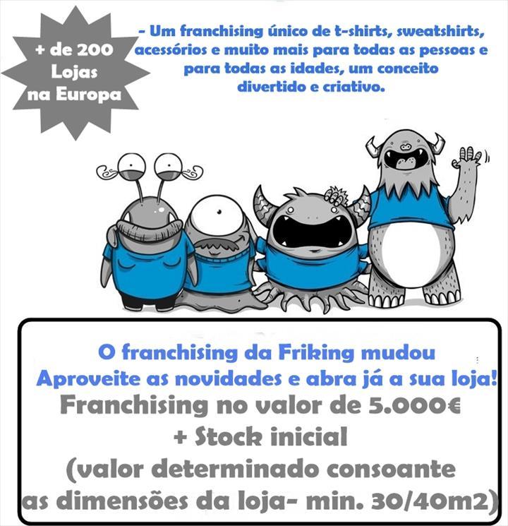 A FRIKING mudou o seu modelo de franchising, aproveite e abra já a sua loja!
