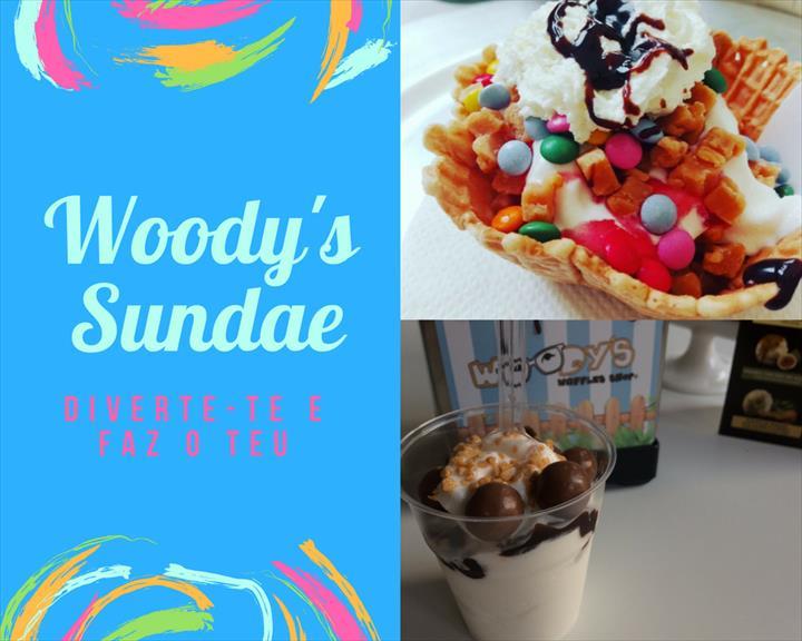 Woodys Waffles Shop lança novo produto- Woodys Sundae