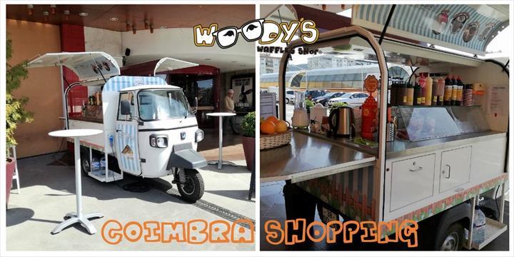 Woodys Waffles Shop presente no Coimbra Shopping