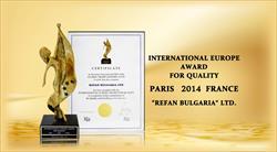 Refan recebeu o prémio internacional europeu de qualidade