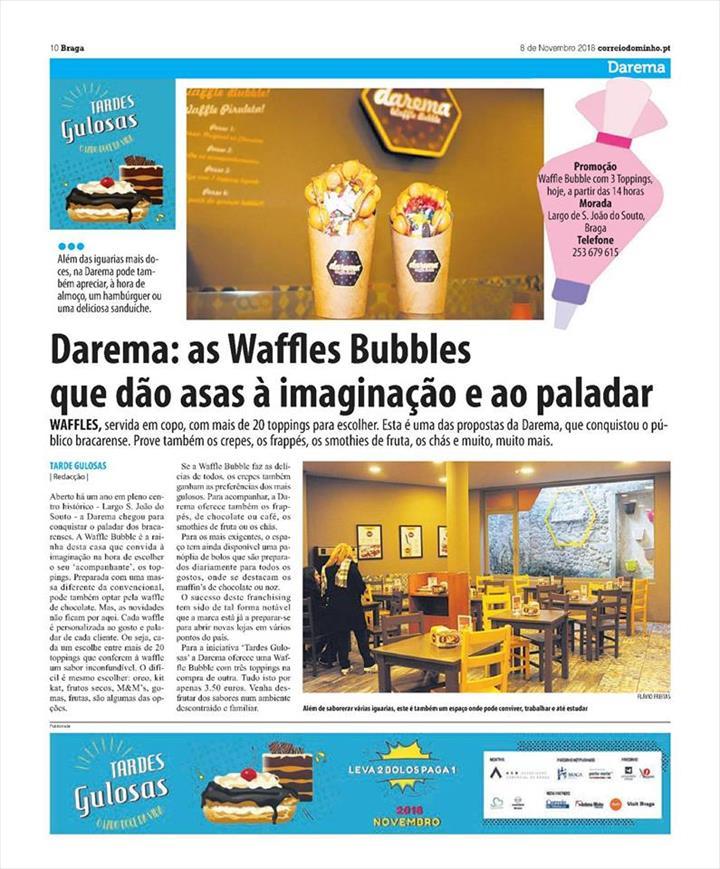 Waffles Bubbles dão asas à imaginação e ao paladar!