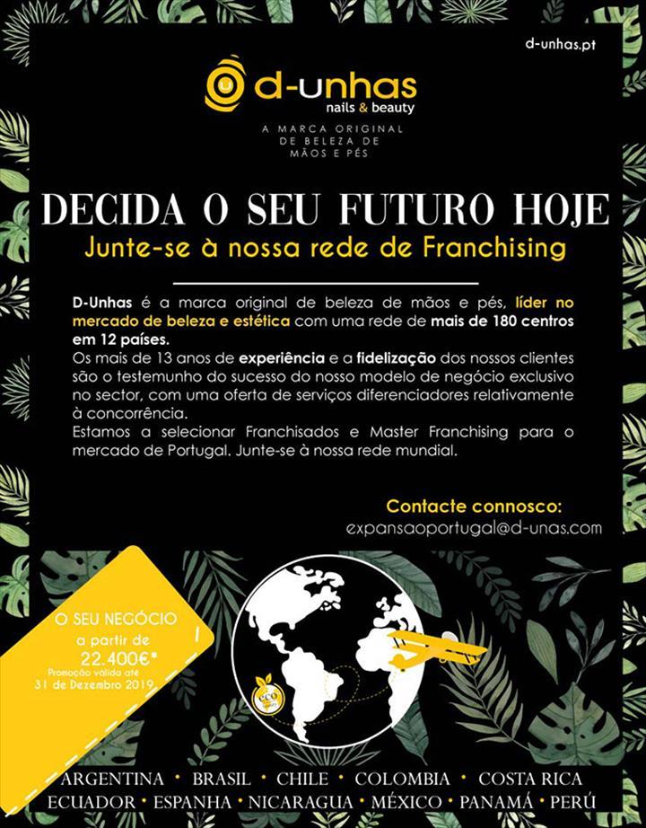 ABRA UMA D-UNHAS A PARTIR DE 22.400€ DE INVESTIMENTO
