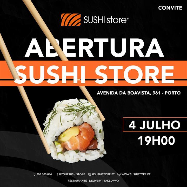 Sushi Store inaugura a unidade piloto no Porto, dia 4 de julho.