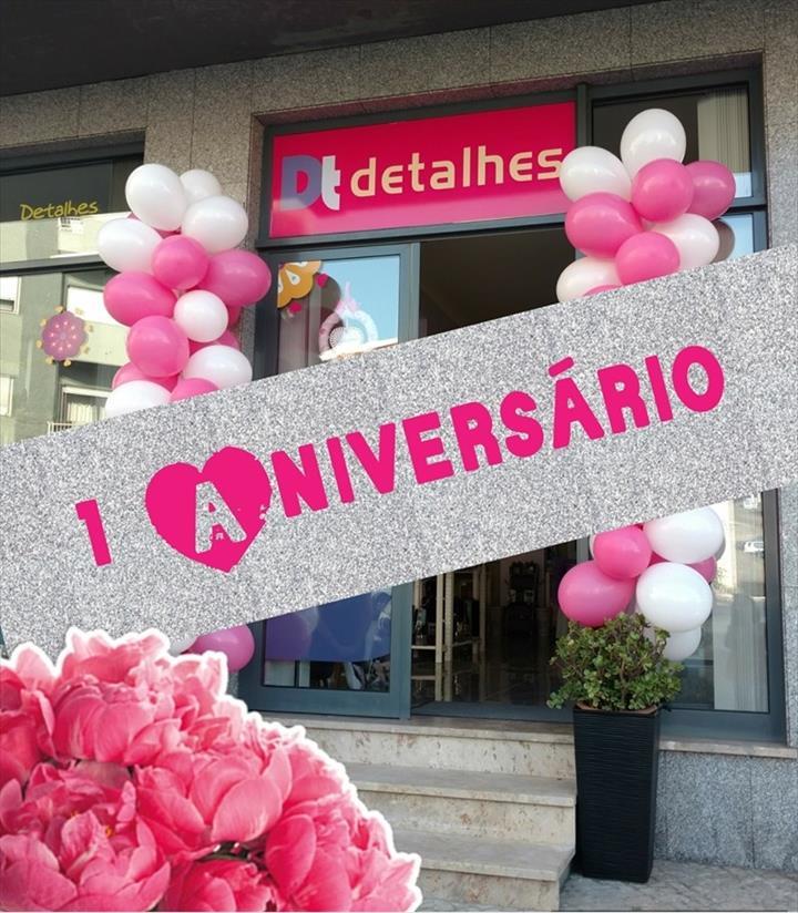 """Hoje faz um ano que a """"DT detalhes"""" abriu portas na cidade de Leiria!"""