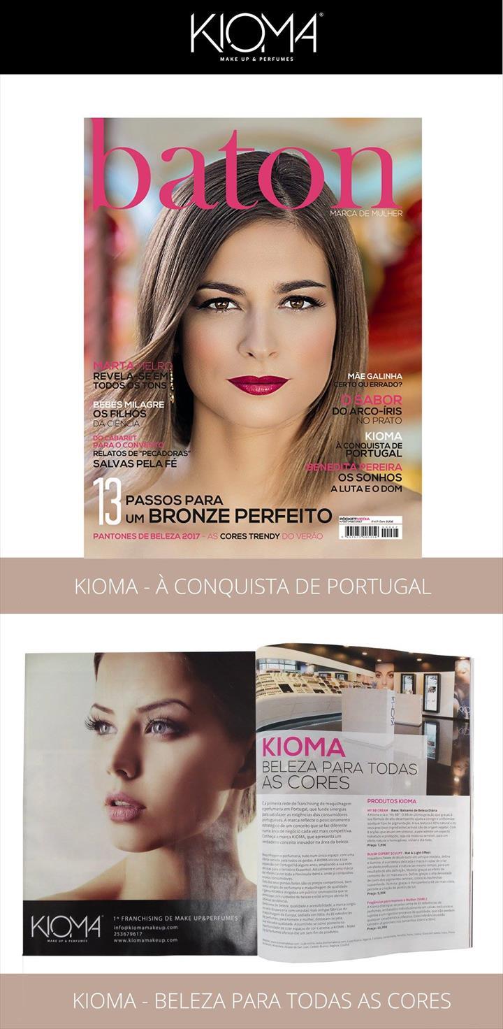 """""""KIOMA na Revista Batom, à conquista de Portugal"""