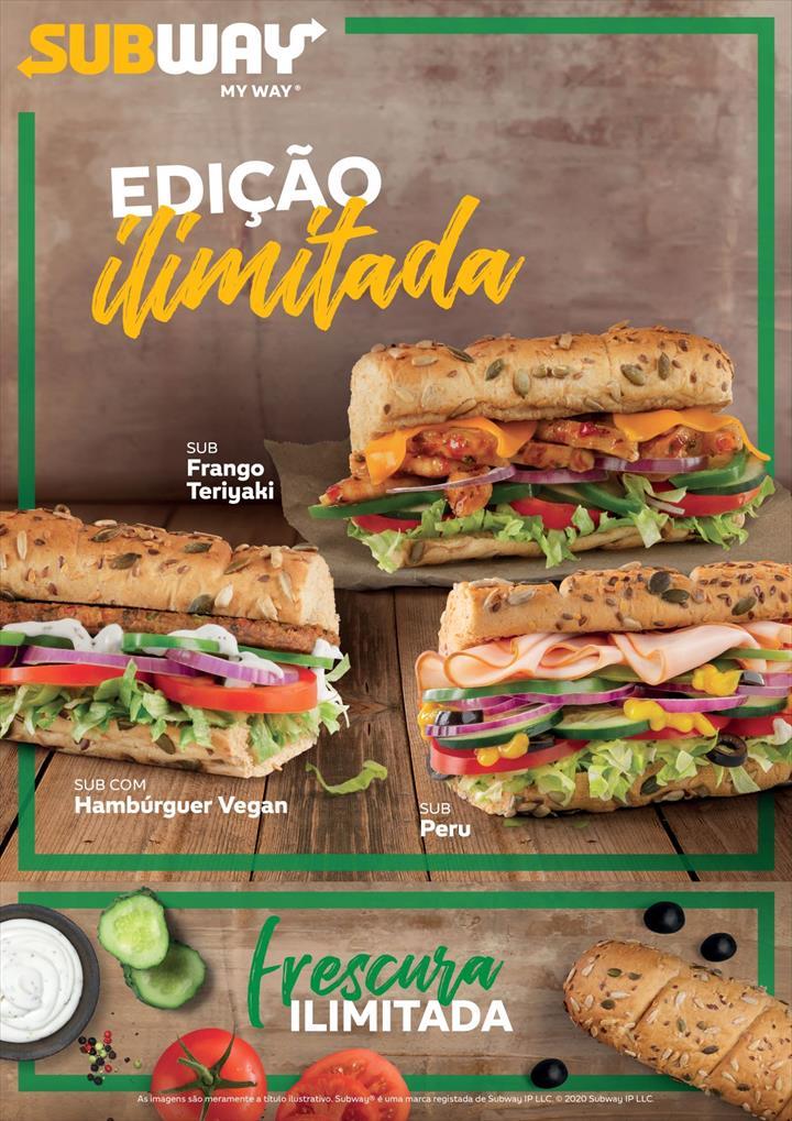 Subway lança edição ilimitada