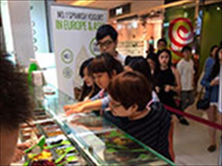 Llao llao Natural Frozen Yogurt lança sua primeira  franquia em Taiwan