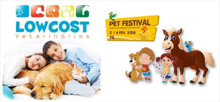 A LowCost Veterinários vai estar presente no Pet Festival 2018