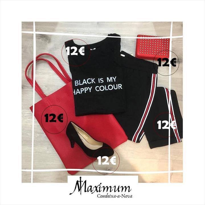De 12€ em 12€ consegues um look perfeito venha conhecer a Maximum Vip Fashion tudo 12€!