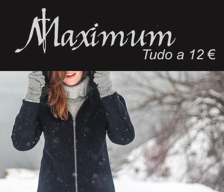 As lojas Maximum Vip Fashion loja nº1 de preço único onde tudo é vendido por 12€ prepara-se para receber o inverno com a sua nova coleção.